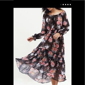 Maxi floral dress-Small-unbranded
